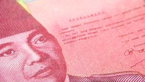 The rupiah is the Indonesian currency royalty free stock images
