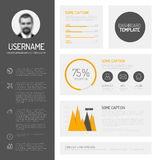 Simple profile dashboard template Royalty Free Stock Photos