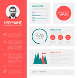 Simple profile dashboard template Stock Photography