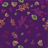 Simple purple berries background. Seamless simple purple background with berries on it Royalty Free Stock Image