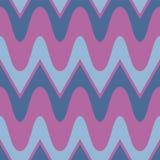 Simple purple blue scalloped seamless pattern Stock Photos