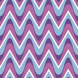 Simple purple blue scalloped seamless pattern Stock Images