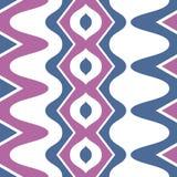 Simple purple blue scalloped seamless pattern Royalty Free Stock Photos