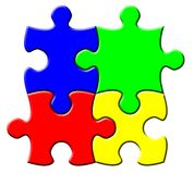 Simple puzzle Royalty Free Stock Photos