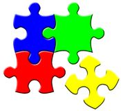 Simple puzzle Stock Photography