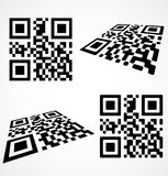 Simple qr code Stock Photo