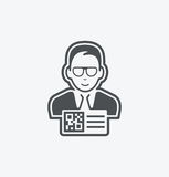 Simple QR manager icon on white background. Simple QR manager icon. eps8. On layers royalty free illustration