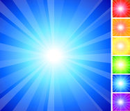 Simple Rainbow glow collection Stock Photography