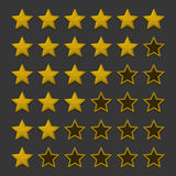 Simple Rating Stars on Dark background. Vector Stock Photos