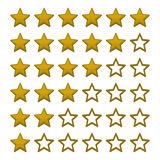 Simple Rating Stars on White background. Vector Stock Image