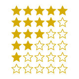 Simple Rating Stars on White background. Vector Stock Images