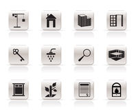 Simple Real Estate icons Royalty Free Stock Photo