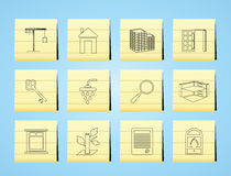 Simple Real Estate icons Stock Images