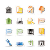 Simple Real Estate Icons Royalty Free Stock Photography