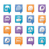 Simple Real Estate icons Royalty Free Stock Photos