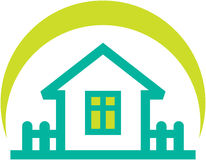 Simple real estate illustration – small house Royalty Free Stock Photography