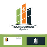 Simple real estate logo Royalty Free Stock Images