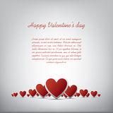 Simple realistic valentine's day hearts card Stock Image