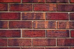 Simple Red brick background stock image