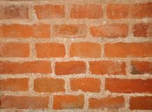 Simple red brick wall background or underlay. Texture Royalty Free Stock Photo