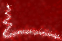 Simple red Christmas illustration Stock Photo
