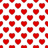 Simple Red Heart Seamless Pattern Stock Images