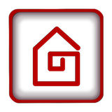 Home icon. Simple red home icon button Royalty Free Stock Images