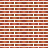 Simple red and orange brick wall seamless pattern Stock Image