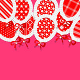 Simple Red Paper Balloons with Pattern Fill, Lace Stock Image