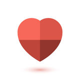 Simple red paper heart icon Stock Photography