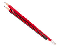 Simple red pencil Royalty Free Stock Image