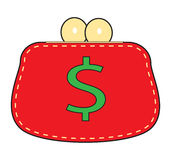 Simple red purse. Stock Photo