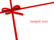Simple red ribbon on white Royalty Free Stock Photography