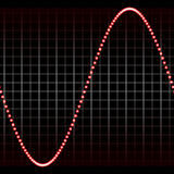 Simple red sound wave Stock Images