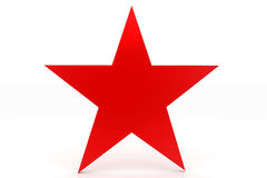 Simple Red Star Royalty Free Stock Photos