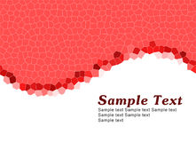 Simple red template Stock Images
