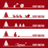 Simple red and white christmas business banners eps10 Royalty Free Stock Photo