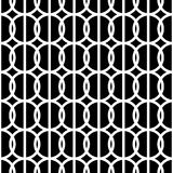 Simple repeating texture with circles and vertical stripes. Vector seamless pattern Stock Photo