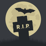 Simple Rest in Peace Icon Design stock illustration