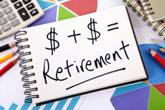 Retirement plan investment growth formula Royalty Free Stock Image
