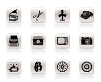 Simple Retro business and office object icons. Vector icon set vector illustration