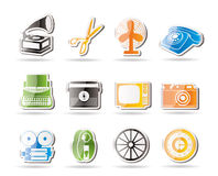 Simple Retro business and office object icons Royalty Free Stock Photo