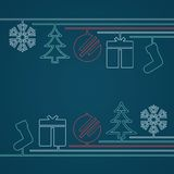 Simple Retro Christmas Background Royalty Free Stock Photo