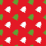 Simple retro Christmas pattern. Winter background Stock Photography