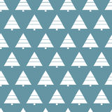 Simple retro Christmas pattern. Winter background. Endless textures in blue colors Stock Photos