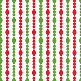 Simple retro geometric Christmas pattern. Traditional colors. Background can be copied without any seams. Garland. Royalty Free Stock Images