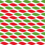 Simple retro geometric Christmas pattern. Traditional colors. Background can be copied without any seams. Garland. Stock Photos
