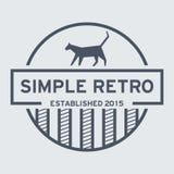 Simple Retro Logo Template Royalty Free Stock Photos