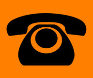 Simple retro phone sign Royalty Free Stock Photos