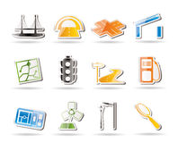 Simple Road, navigation and travel icons. Icon set Royalty Free Stock Image